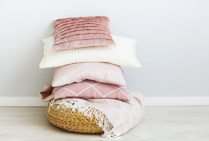 Pink and White Cushions