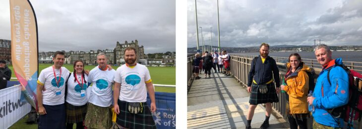 Scenes from Dundee – the start and on the Tay Bridge