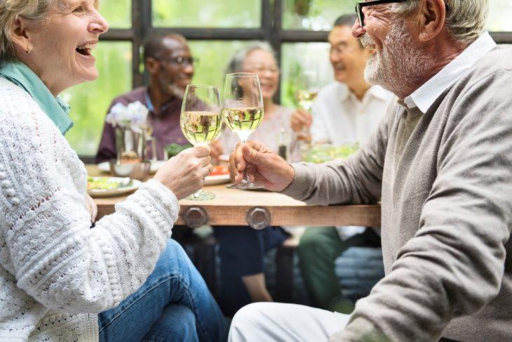 Older Couple Celebrating