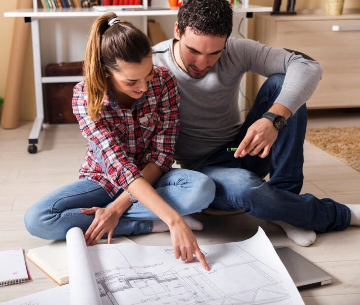 Couple Planning a House