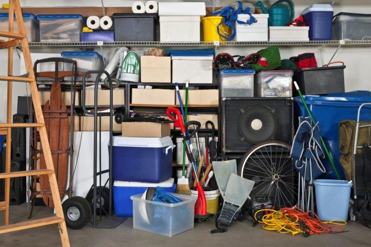 A Garage that Needs Decluttering