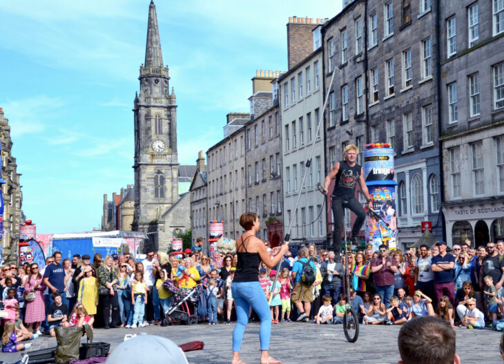 Edinburgh Fringe festival on the Royal Mile